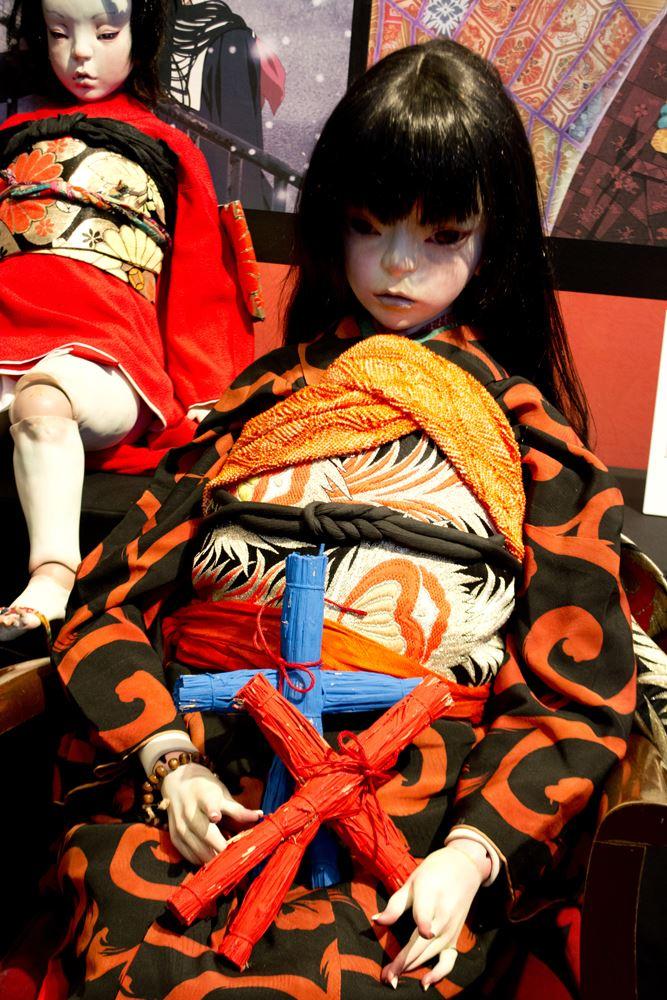 ▲展示されていた人形。
