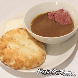 ▲牛馬の肉が入ったカレー汁(1,300円)。