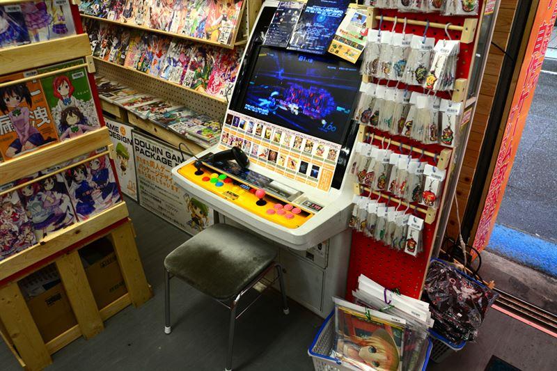 ▲店内に設置された筐体。