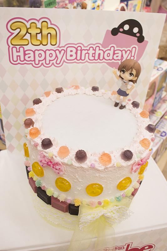 ▲誕生日ケーキにキューポッシュを乗せて撮影可能。(持ち込みもOK)