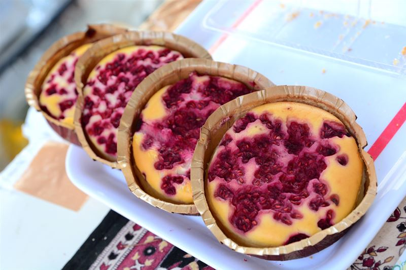 ▲個人的にオススメしたいのが、こちらの「木苺のチーズケーキ」(400円)。甘酸っぱさがたまんないです!