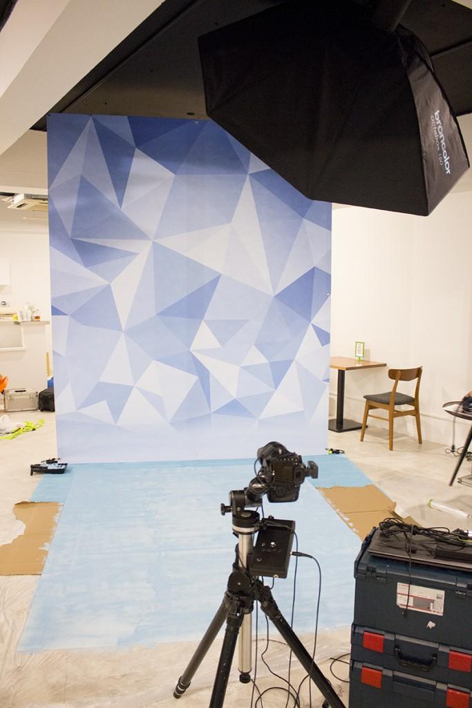 ▲こちらが「QLQL(クルクル)」の撮影セット。カメラ等のセットも店舗で用意済み。