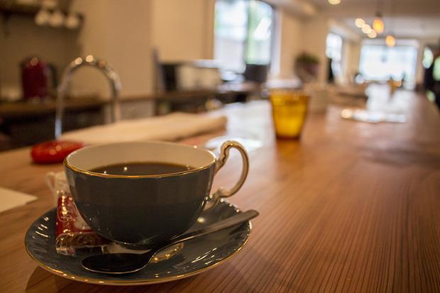 ▲コラボ開催場所の「Vault Coffee」。