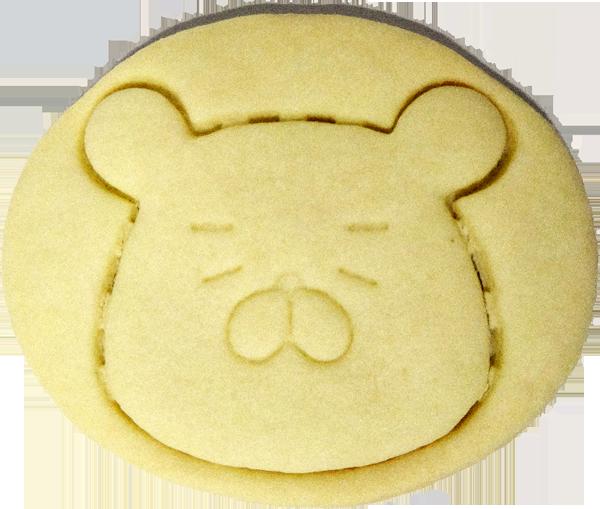▲「ハム二郎」の顔型クッキー。割らずにくり抜けるか……!?