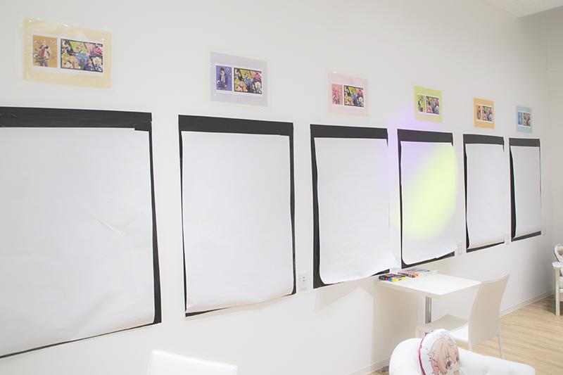 ▲お絵かきスペース。用紙上であればどこでも描いていい。