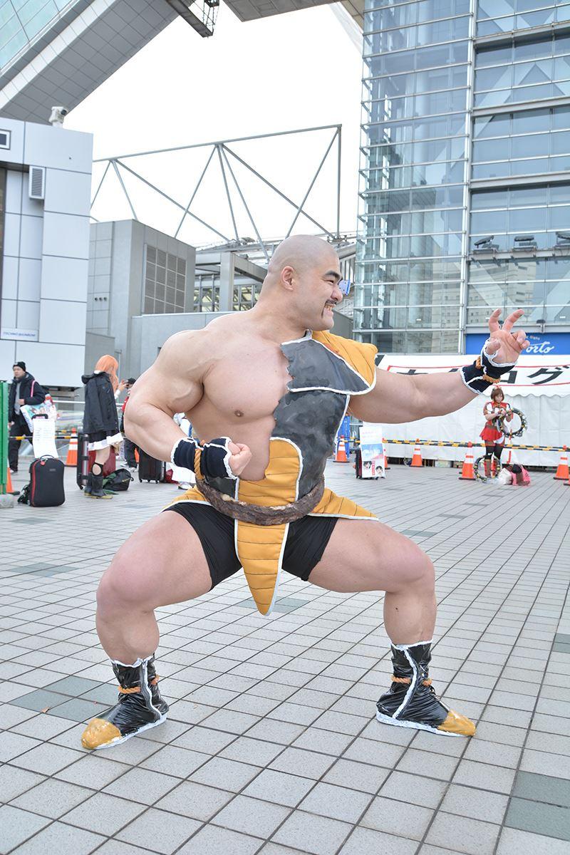 ▲強すぎるナッパさん……! まさかのリアル筋肉。