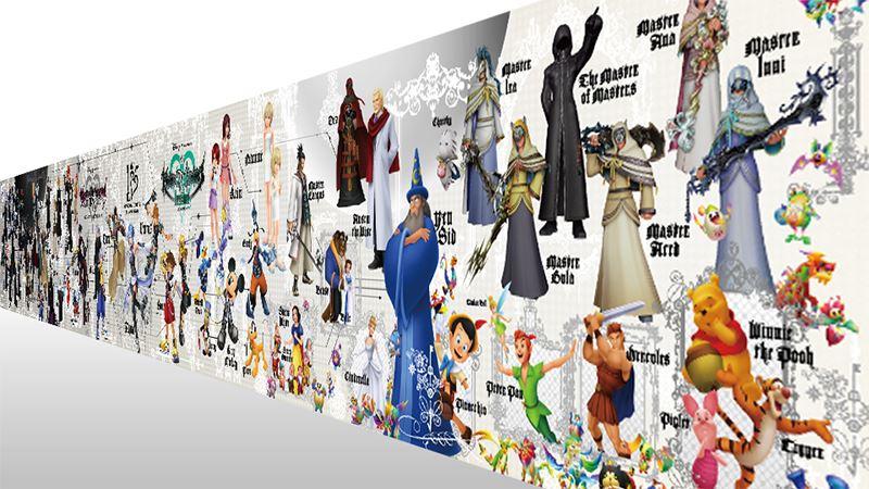 キングダムハーツ 15周年メモリアルステンドグラスクロック展示 (14)