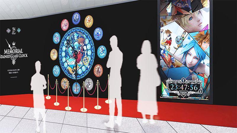 キングダムハーツ 15周年メモリアルステンドグラスクロック展示 (17)