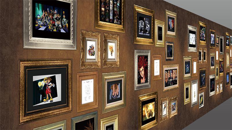 キングダムハーツ 15周年メモリアルステンドグラスクロック展示 (13)