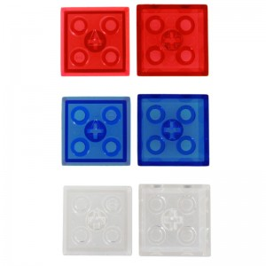 商品写真。キーボードと同じサイズになっていて、表面部分にはブロックおもちゃ接続用の突起