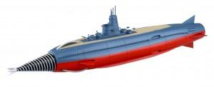 特別カラーのフィギュア「海底軍艦 轟天号 限定版」